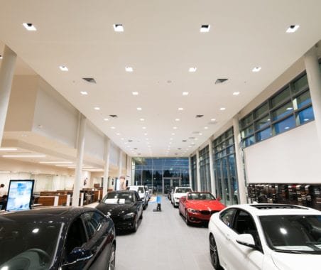interior lighting project for retail