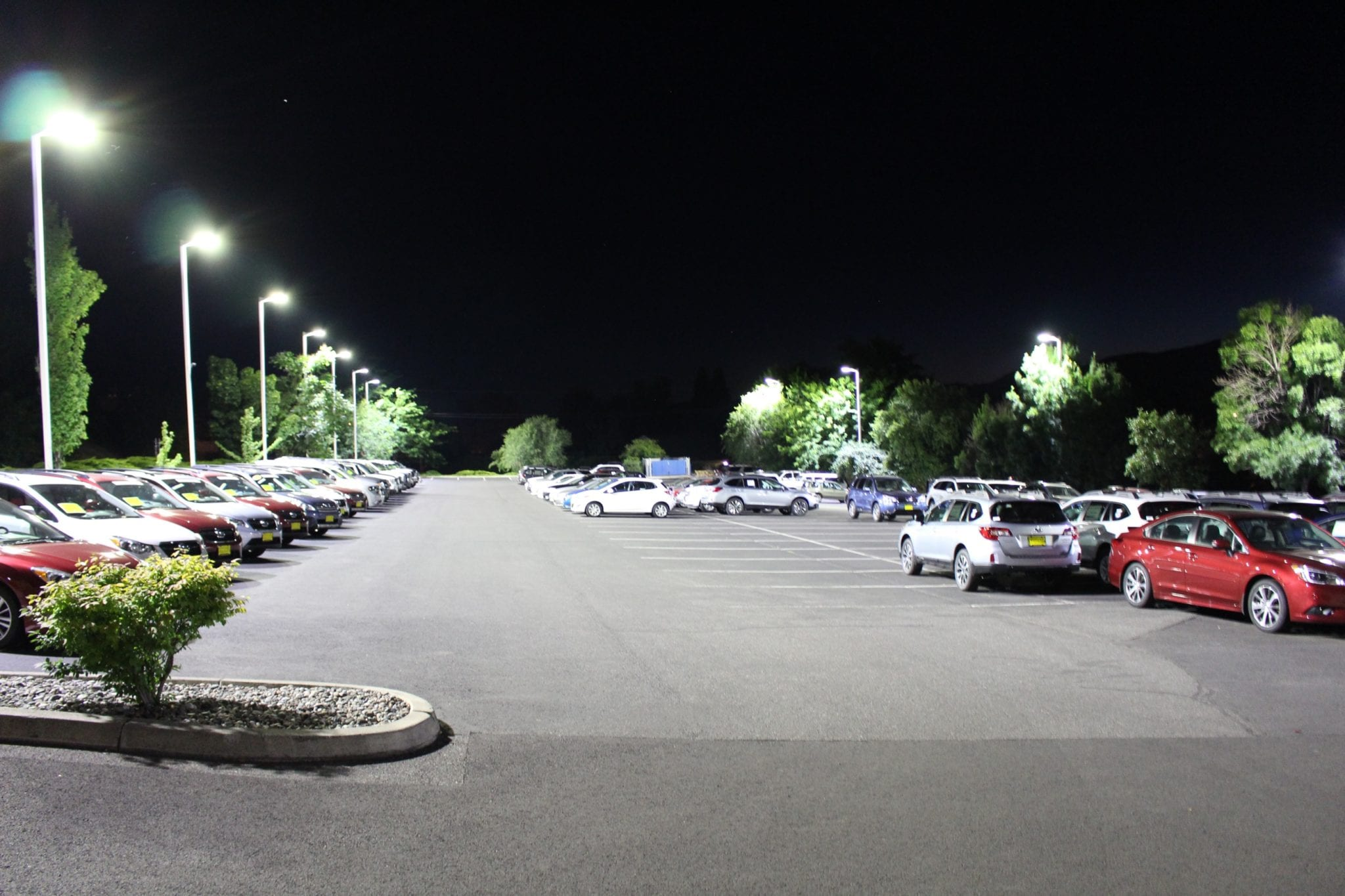 After PEC lighting Kendall Auto Group Dodge and Subaru